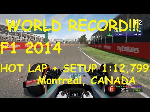 F1 2014 Montreal 1:12,799 Setup + Hot Lap - World Record!