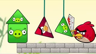 Angry Birds Pigs Out - CUT THE ROPE TO RESCUE TRIANGLE BIRDS AND KICK SQUARE PIG!