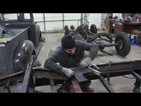 How To Repair 1932 Ford Frame Rails- Sweet Heart Roadster Ep. 7