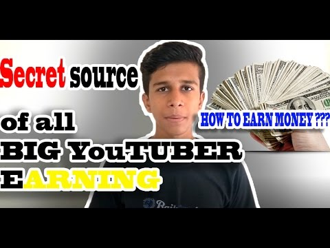[HINDI] secret source of earning of all big youtubers [must watch and earn]