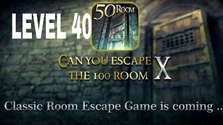 Can You Escape The 100 room X level 40 Walkthrough