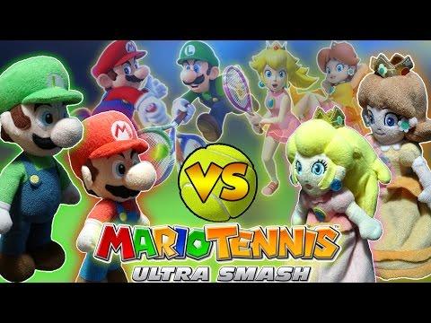 Download Youtube: ABM: Mario & Luigi Vs Peach & Daisy!! MARIO TENNIS ULTRA SMASH!! HD