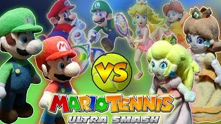 ABM: Mario & Luigi Vs Peach & Daisy!! MARIO TENNIS ULTRA SMASH!! HD