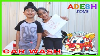 Adesh Play With Toy Car Wash Clean