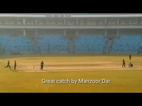 Manzoor Ahmad Dar Pandav's Dhoni helicopter six and batting   YouTube