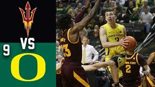 2020 College Basketball Arizona State vs #9 Oregon Highlights