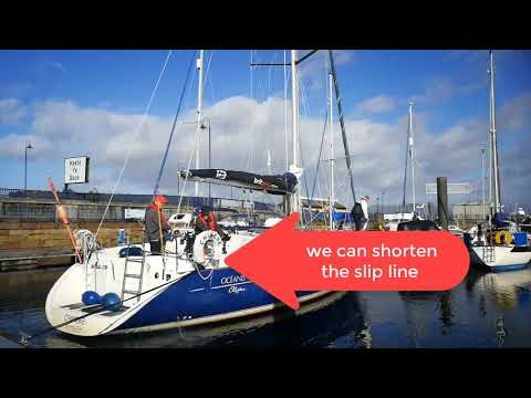 RYA Day Skipper: Boat Handling - Tight turn in Rothesay Harb