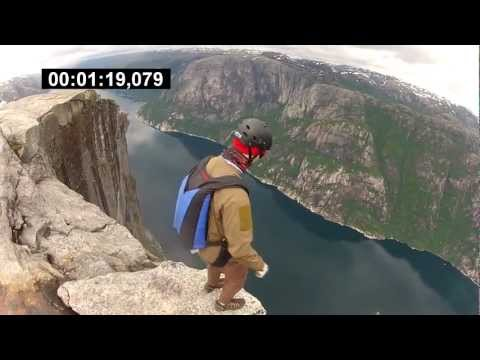 My BASE clips from first jump course & heliboogie 2012 @ Kjerag, Norway
