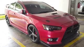 Custom Modified Mitsubishi Lancer X Proton Inspira Sedan Full Body Kit 18 inch Wheels