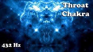 Gambar cover (POWERFUL 432 Hz) #5 THROAT CHAKRA Activation and Balancing (15 minute meditation)