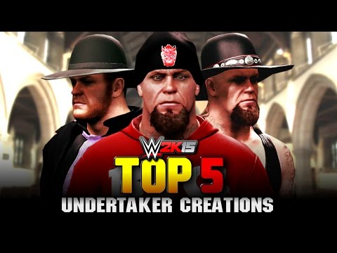 WWE 2K15 - The Undertaker Top 5 Attires - Community Creations: WWE 2K15 - The Undertaker Top 5 Attires - Community Creations  Check out the top 5 attires for the Deadman, The Phenom, The Undertaker! in WWE 2K15 for the PS4!  This video contains a mixture of WWE 2K15 superstar studio attire and original undertaker created wrestlers, all courtesy of WWE community Creations!  The WWE 2K15 Superstar Studio Community Creations playlist is positioned here : https://www.youtube.com/playlist?list=PL4Vlkbu4KyW_Mjg_iyAHjCMIeITyH13ql  Music Credit : Outro - https://www.youtube.com/teknoaxe  Various Custom Undertaker Themes : https://www.youtube.com/JAYDEGARROW https://www.youtube.com/Mradammassacre https://www.youtube.com/hotman718  Thanks for watching the video! This was the most requested top 5 videos i've ever made!  Official : http://www.elementgames.tv Facebook : http://www.facebook.com/elementgamestv Twitter : http://www.twitter.com/elementgamestv Tumblr : http://www.elementgamestv.tumblr.com  Thanks for watching The Undertakers' top 5 attires in WWE 2K15 : To download Undertaker creations, please search for the creators below on PSN (PS4);   5 - Undertaker 1997 by trialnerror424 4 - Undertaker Ministry attire by btodas 3 - Undertaker Wrestlemania 31 CAW by xx-pao-xx 2 - Undertaker 1994 Purple attire by WWE_SVSR_FOREVER 1 - Big Evil Undertaker by RoyalRKO