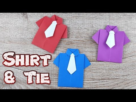 Origami Shirt with Tie Paper | How To Making Easy Folding Instructions Shirt Tutorials | DIY Paper