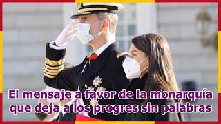 El mensaje a favor de la monarquía que deja a los progres sin palabras