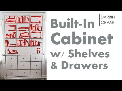 Built-in Bookshelves - How To Design Cabinets
