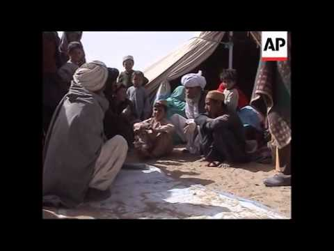 Refugees in Taliban camp inside Afghanistan