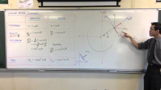 Uniform Circular Motion: Determining Tangent & Normal Forces