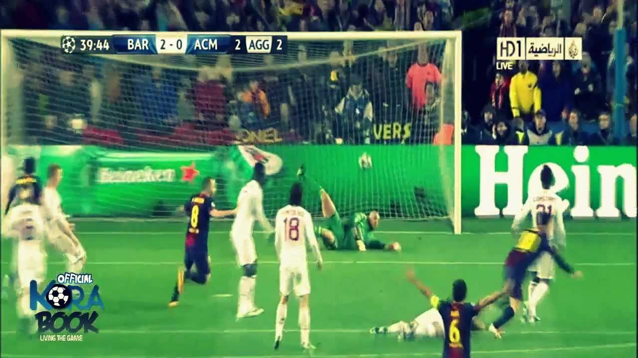 Fc Barcelona Vs Ac Milan 4 0 All Goals Match Highlights In Hd 13 03 2013 Youtube