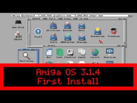 Commodore Amiga OS 3 1 4 - First Install on Real A1200 - YouTube