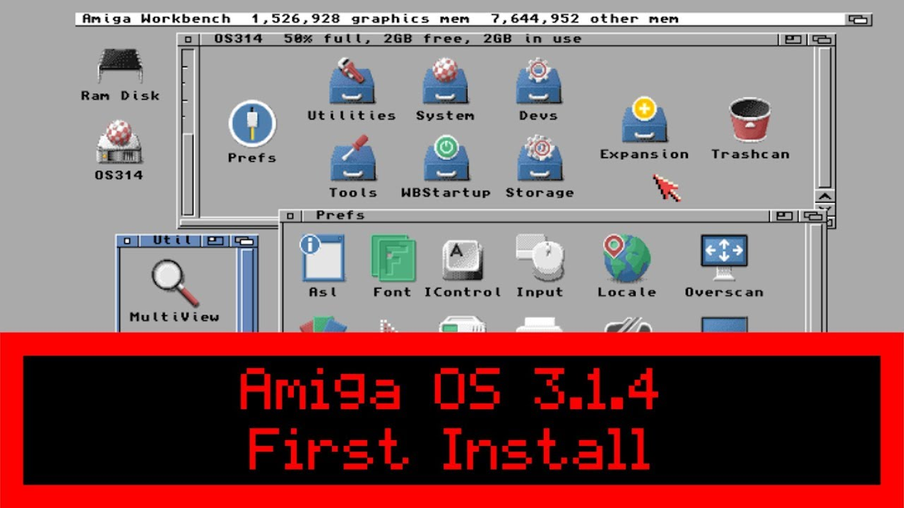 Commodore Amiga OS 3 1 4 - First Install on Real A1200