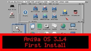 Commodore Amiga OS 3.1.4 - First Install on Real A1200