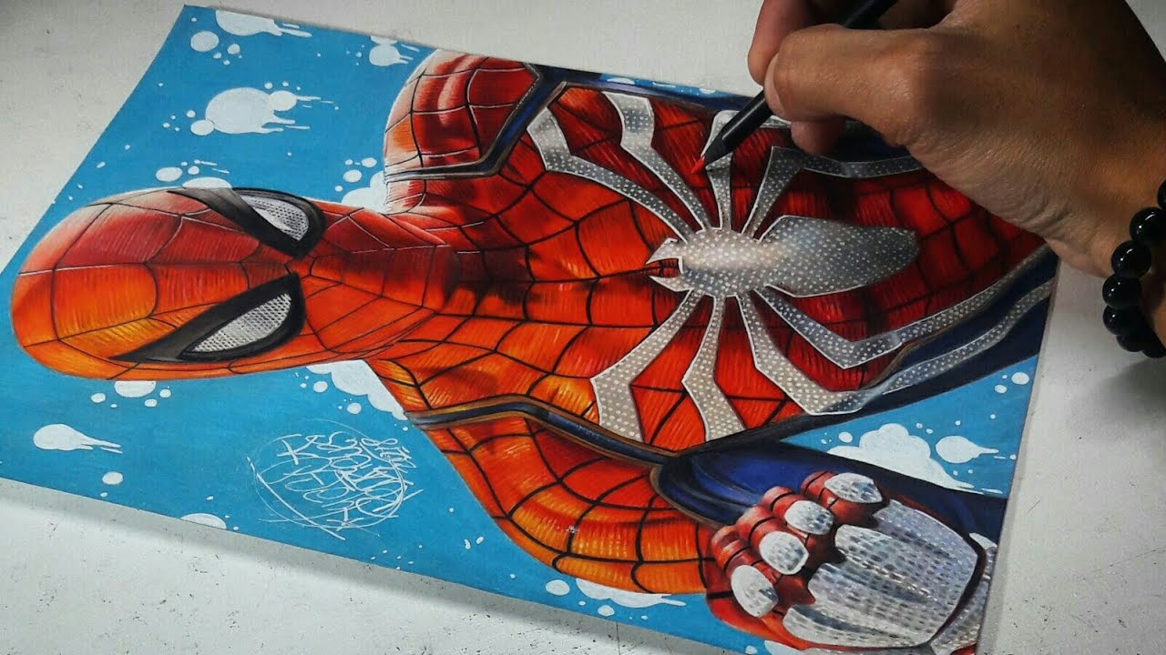 Speed Drawing: PS4 Spider Man (Playstation 4 Game) YouTube