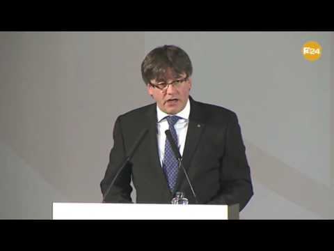 Carles Puigdemont talks about Catalan #IndyRef in Madrid