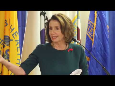 Rep. Pelosi speaks at the Murtha Cancer Center anniversary
