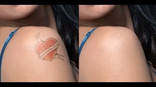 Fake Tattoos: Photoshop retouching