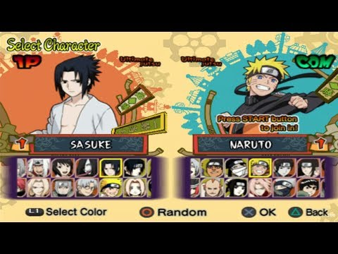 Naruto Shippuden: Ultimate Ninja 5 Opening and All Characters [PS2]