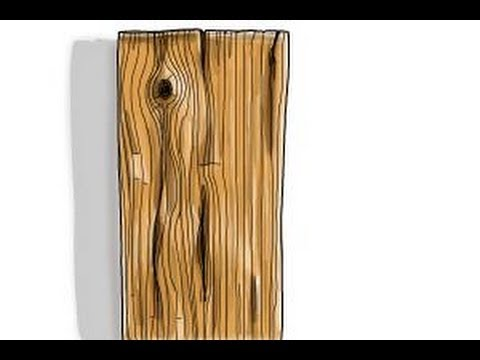 How to draw wood texture - YouTube