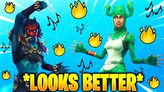These Fortnite Dances Look Better With These Skins..! (Leaked Skins & Dances)