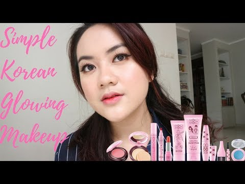 SIMPLE KOREAN GLOWING MAKEUP - Moko Moko One Brand Makeup Tutorial