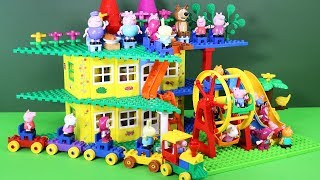 Peppa Pig Building Blocks Lego House Toys - Lego Duplo House Creations Toys For Kids #3