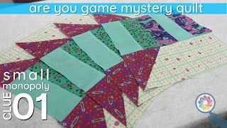 Clue 01 for Cotton Cuts Fall 2020 Mystery Quilt (Small Monopoly)