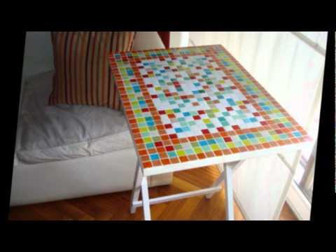 Mesas plegables con venecitas youtube - Mesas con azulejos ...