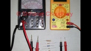 Finding the value of any resistor using an ANALOG & DIGITAL Multimeter.