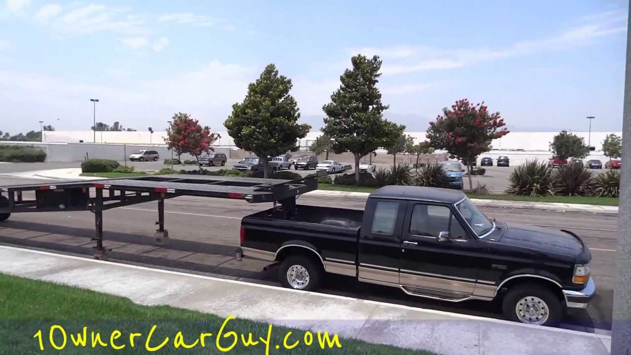 WTF Overloaded Hauler 3 Car Trailer 5th Wheel Crazy Under Powered ...