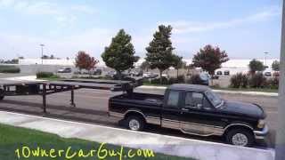 WTF Overloaded Hauler 3 Car Trailer 5th Wheel Crazy Under Powered Transport Truck Video