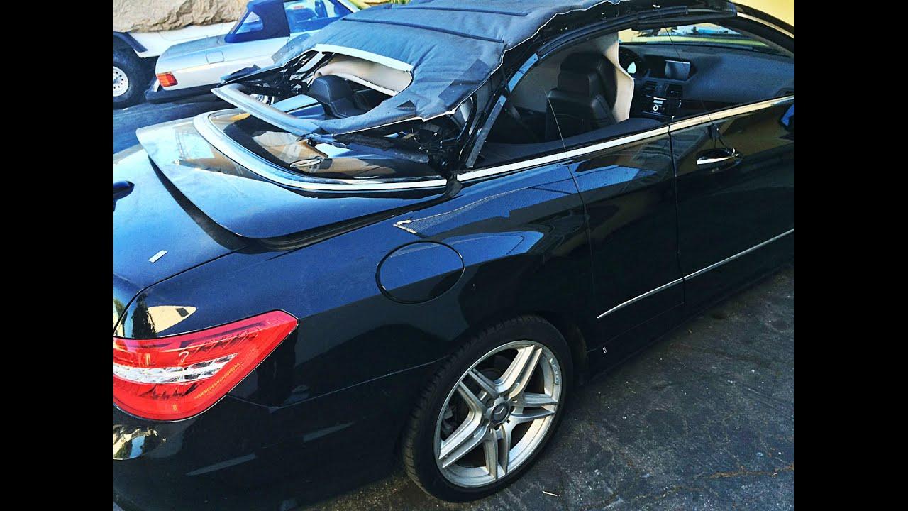 Mercedes benz e class convertible top repair in los for Mercedes benz repair los angeles
