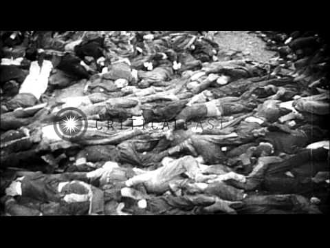 Soviet attacks on Warsaw and Poznan on way to invading Berlin during World War 2 HD Stock Footage