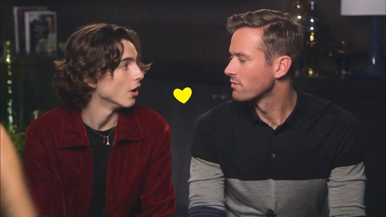 Armie Hammer Timothee Chalamet Adorable Photos To Make You Feel Happiness Youtube