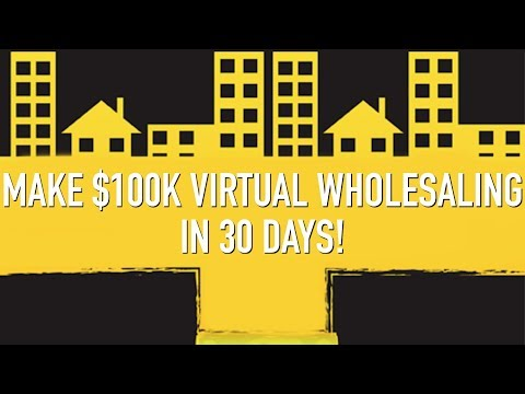 How to make a 100k virtual wholesaling in 30 days for Can you build a house for 100k