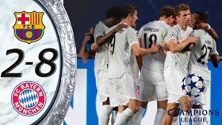 ไฮไลท์ฟุตบอลเมื่อคืน 2019/20 บาเยิร์น มิวนิคล่าสุด  8 - 2 วันนี้ล่าสุด🔥 14/08/2020