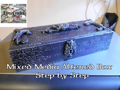 DIY Mixed Media Altered Box step by step tutorial