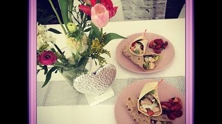 Hello Fresh Leichte Hänchen-Wraps mit Kokos-Joghurt und Tomatensalat
