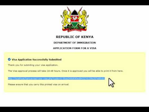 Kenya Visa on Arrival Online Registration and Barcode Based Processing