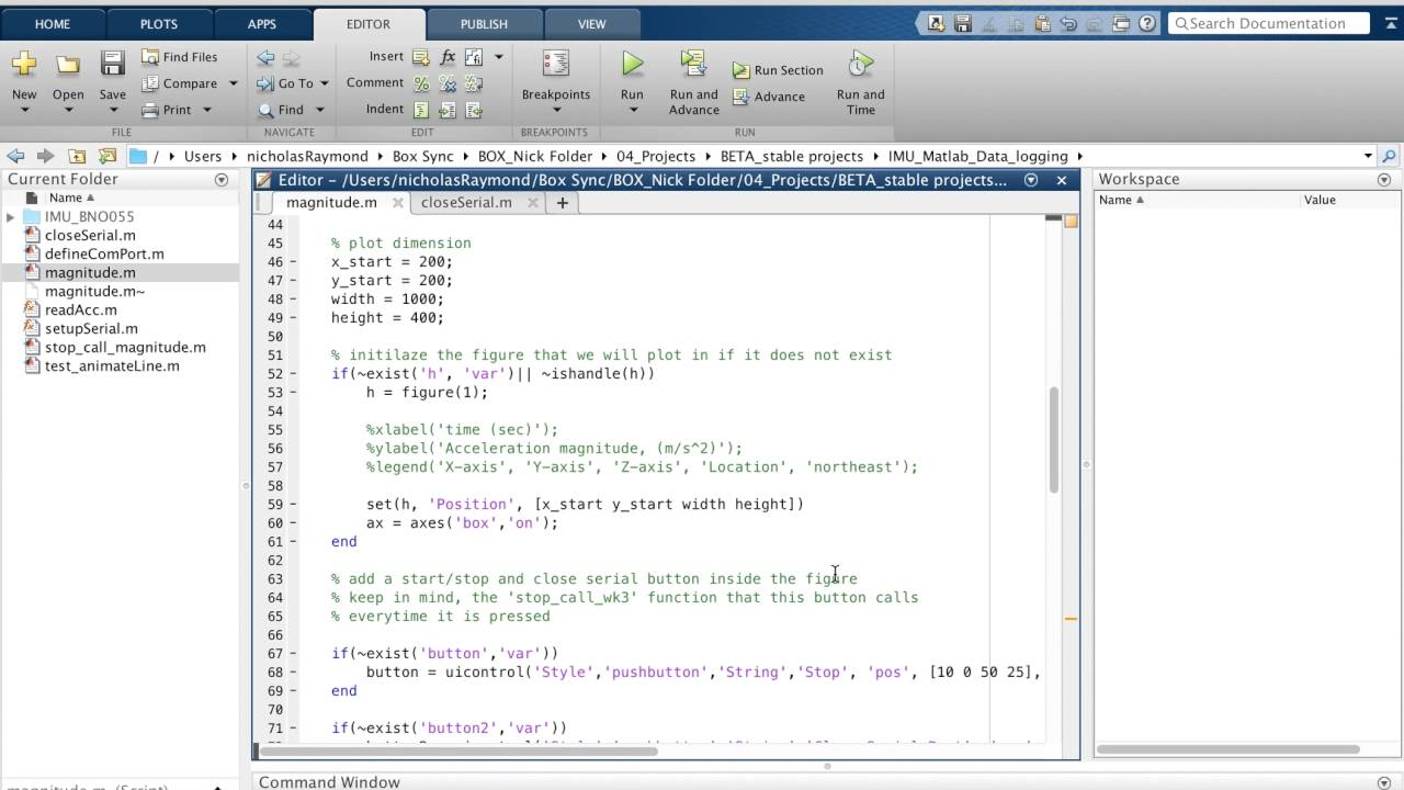 Matlab + IMU example | Open Source Ocean Data Buoy Project