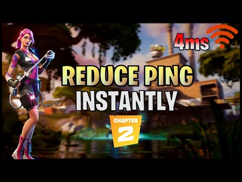 HOW TO GET 0 PING AND PACKET LOSS IN FORTNITE!