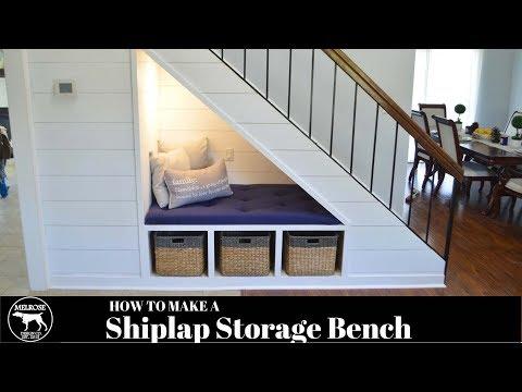 DIY Shiplap-Staircase Reading Nook (ORGANIZATION HACK)