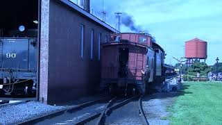 Strasburg Railroad Freight with Steam shoving. in Full 1080 HD. Part Three